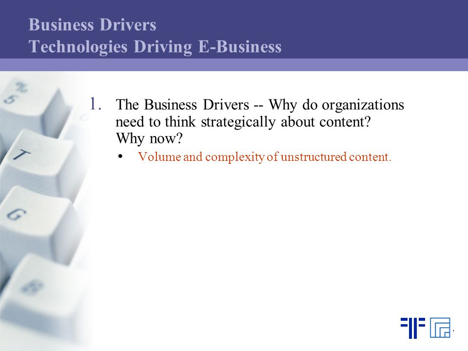 Business Drivers Document Management fuels E-Business