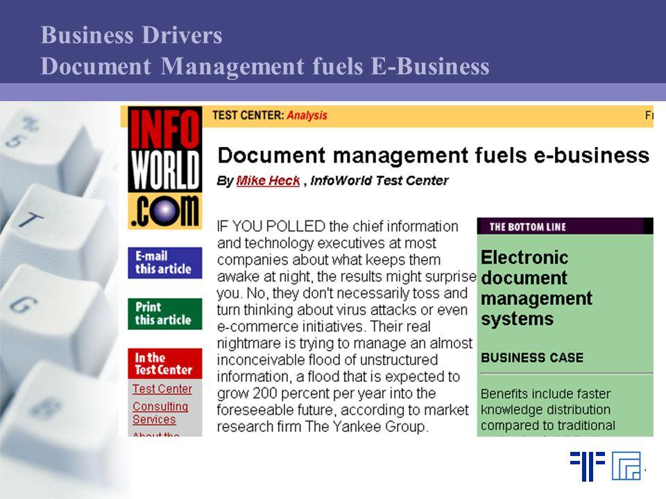 Business Drivers Document Management fuels E-Business