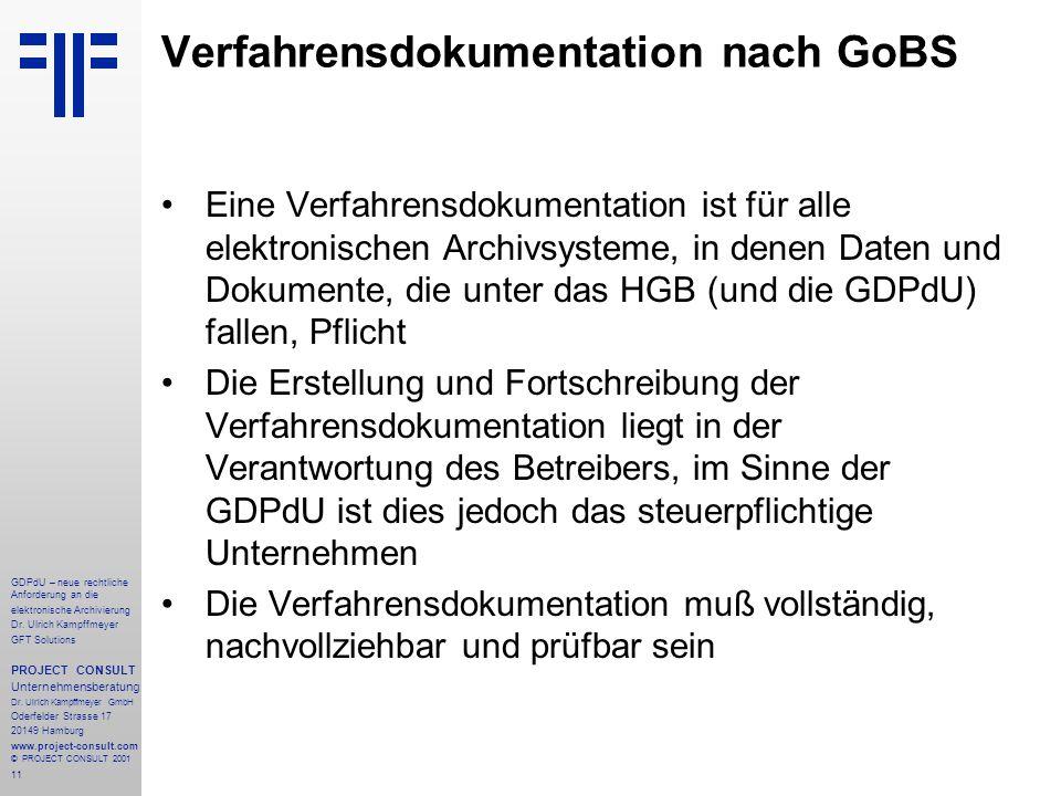 12 GDPdU – neue rechtliche Anforderung an die elektronische Archivierung Dr.