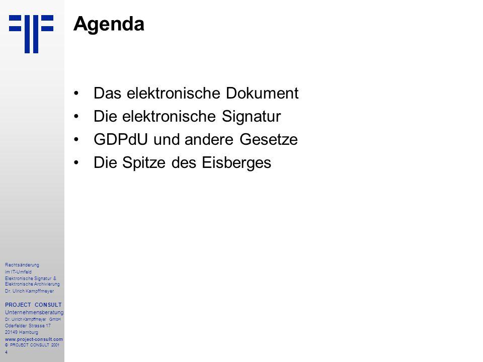 4 Rechtsänderung im IT-Umfeld Elektronische Signatur & Elektronische Archivierung Dr.