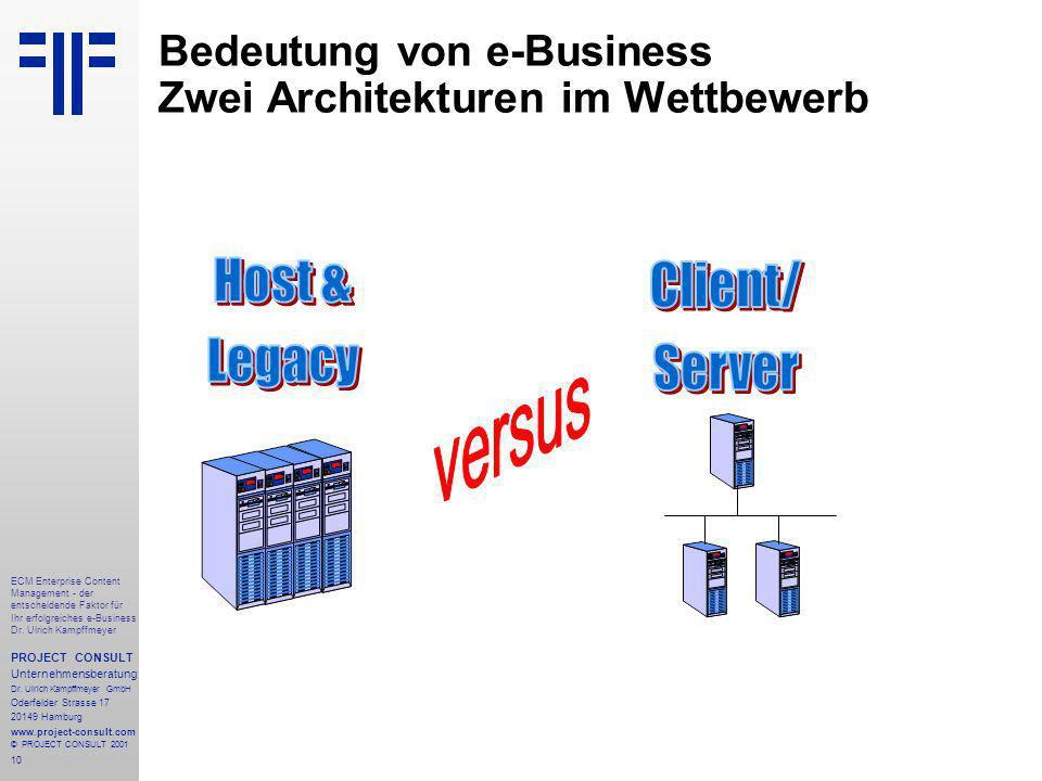 10 ECM Enterprise Content Management - der entscheidende Faktor für Ihr erfolgreiches e-Business Dr.