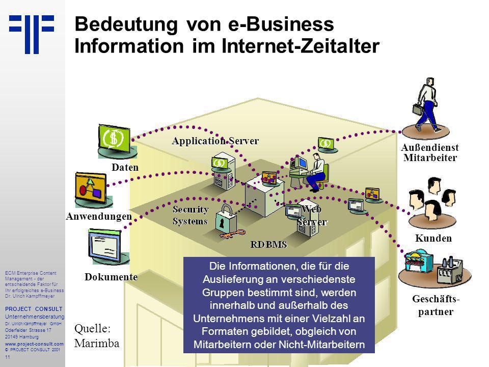 11 ECM Enterprise Content Management - der entscheidende Faktor für Ihr erfolgreiches e-Business Dr.