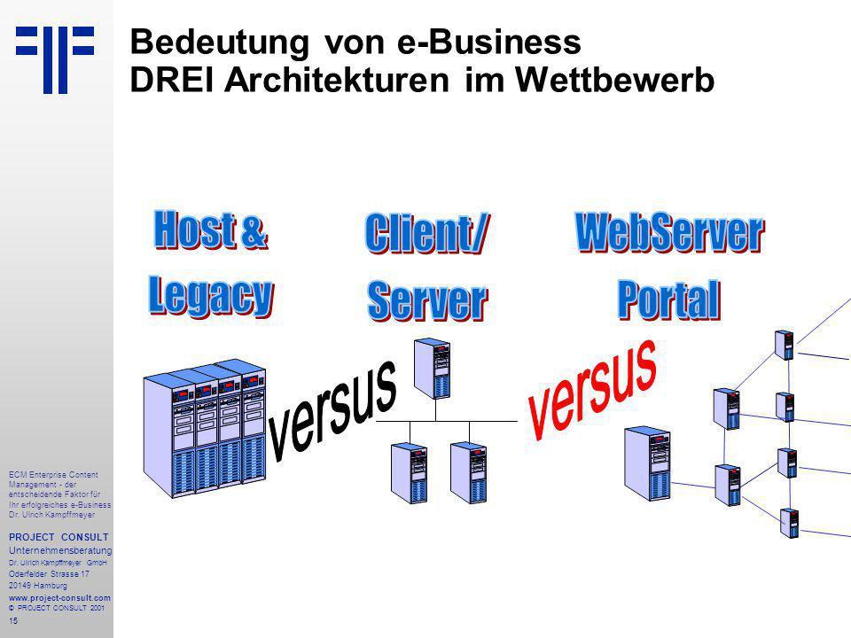 15 ECM Enterprise Content Management - der entscheidende Faktor für Ihr erfolgreiches e-Business Dr.