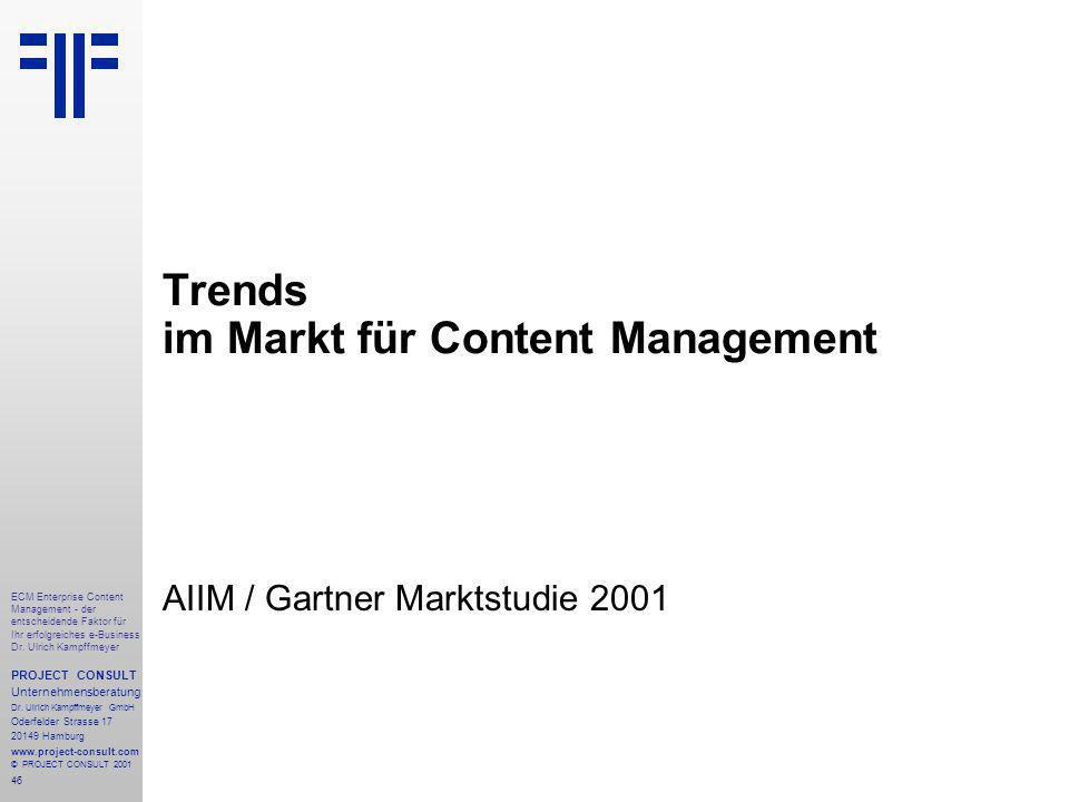 46 ECM Enterprise Content Management - der entscheidende Faktor für Ihr erfolgreiches e-Business Dr.