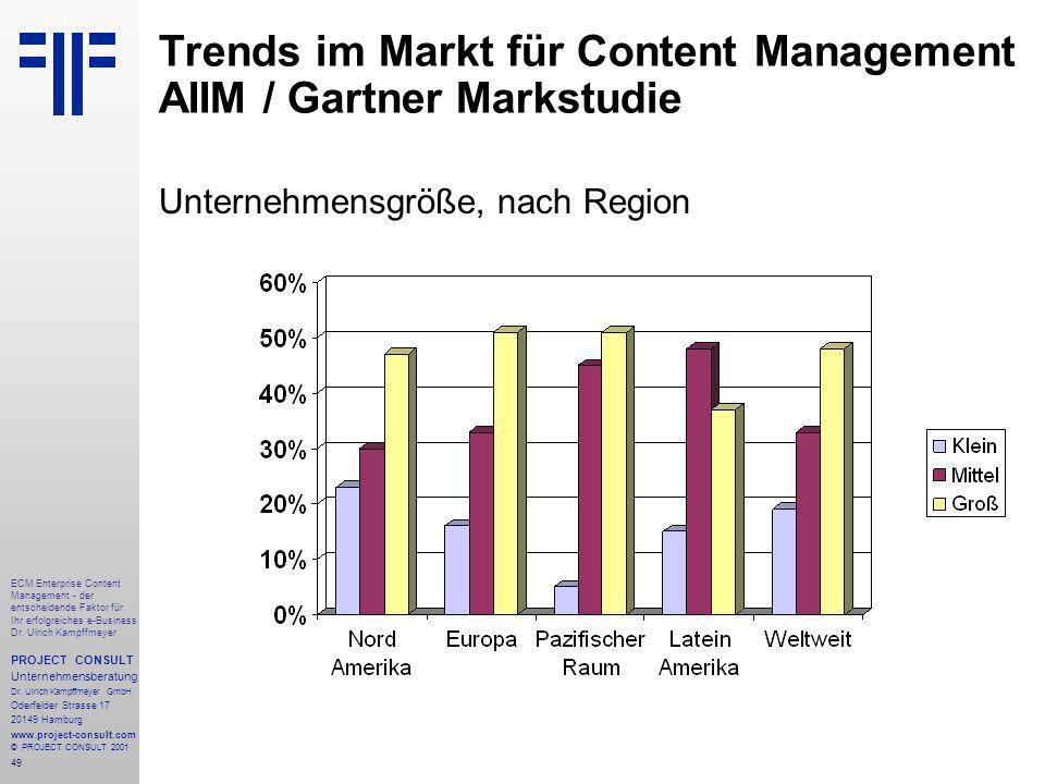 49 ECM Enterprise Content Management - der entscheidende Faktor für Ihr erfolgreiches e-Business Dr.