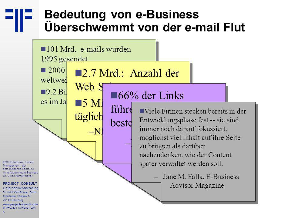 5 ECM Enterprise Content Management - der entscheidende Faktor für Ihr erfolgreiches e-Business Dr.