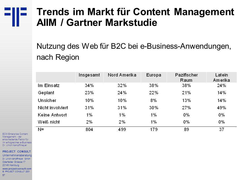 57 ECM Enterprise Content Management - der entscheidende Faktor für Ihr erfolgreiches e-Business Dr.