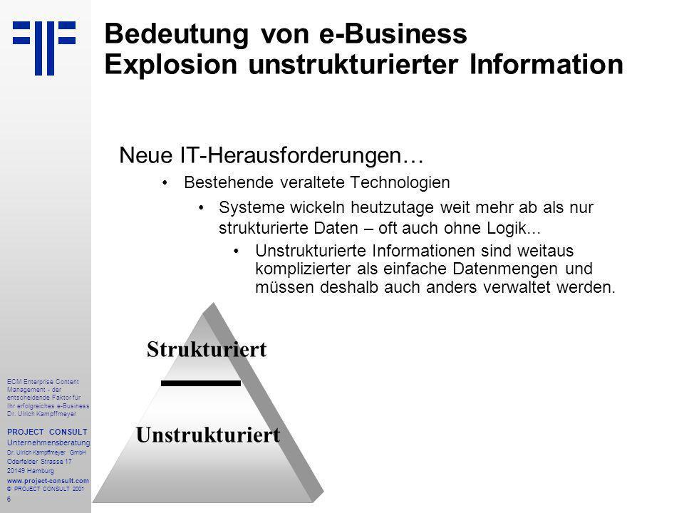 6 ECM Enterprise Content Management - der entscheidende Faktor für Ihr erfolgreiches e-Business Dr.
