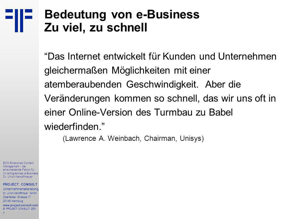 7 ECM Enterprise Content Management - der entscheidende Faktor für Ihr erfolgreiches e-Business Dr.