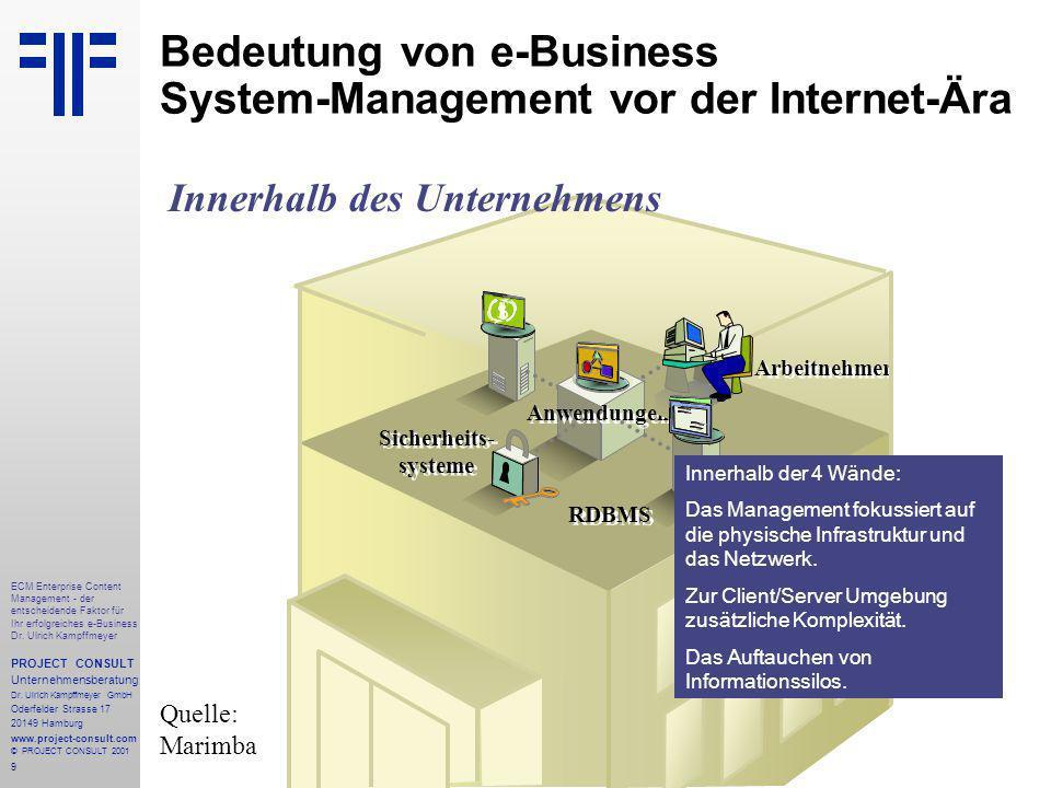 9 ECM Enterprise Content Management - der entscheidende Faktor für Ihr erfolgreiches e-Business Dr.