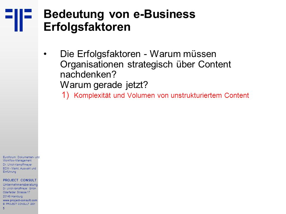 96 Euroforum: Dokumenten- und Workflow-Management Dr.