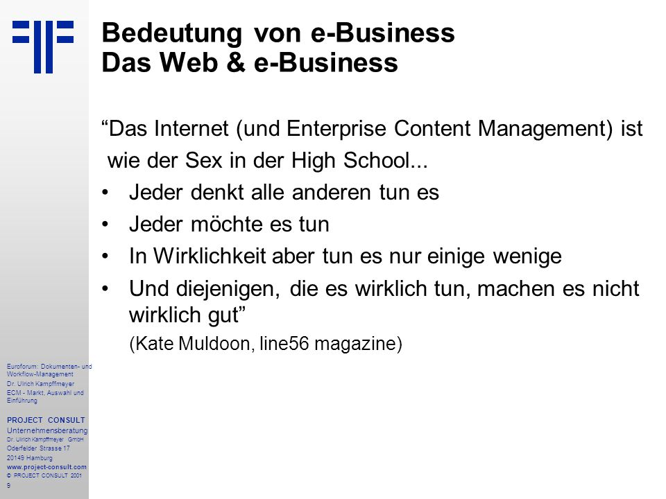 280 Euroforum: Dokumenten- und Workflow-Management Dr.