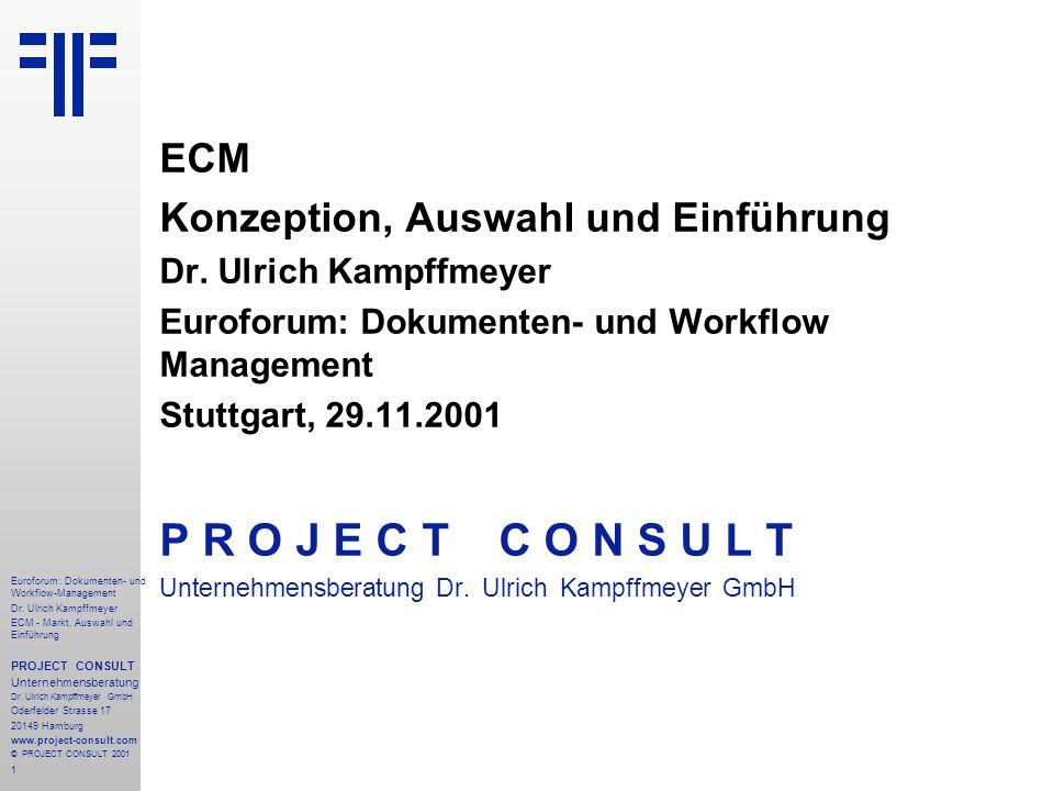 1 Euroforum: Dokumenten- und Workflow-Management Dr.