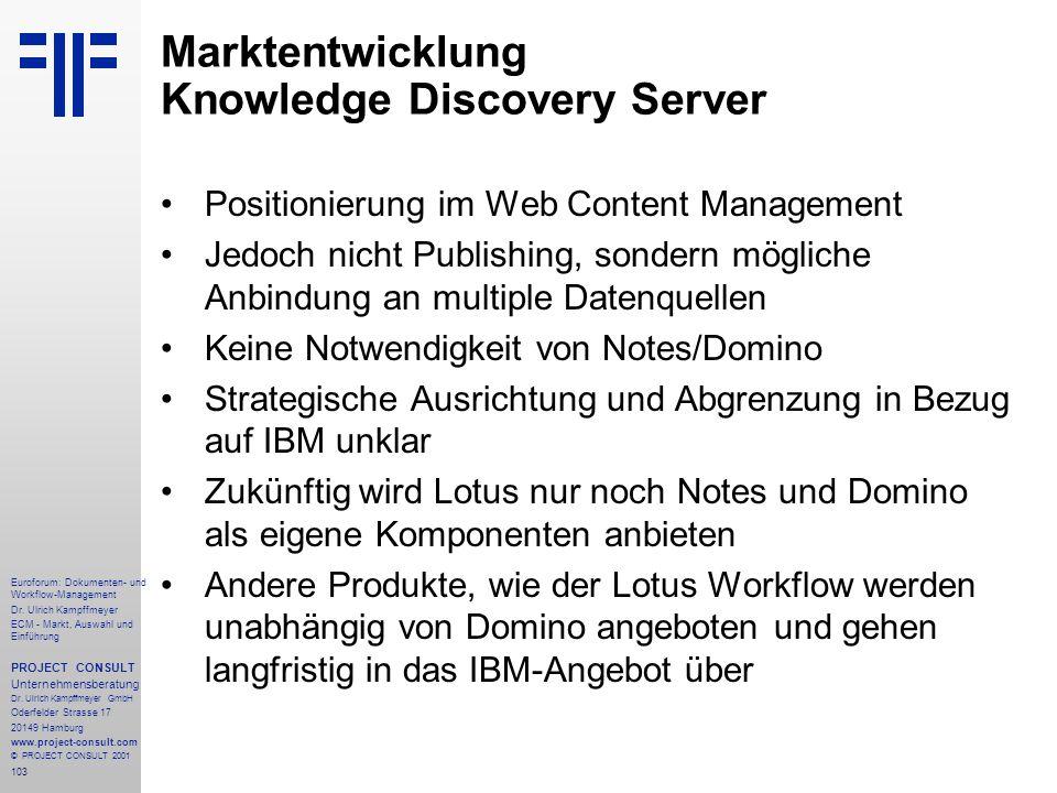 103 Euroforum: Dokumenten- und Workflow-Management Dr.