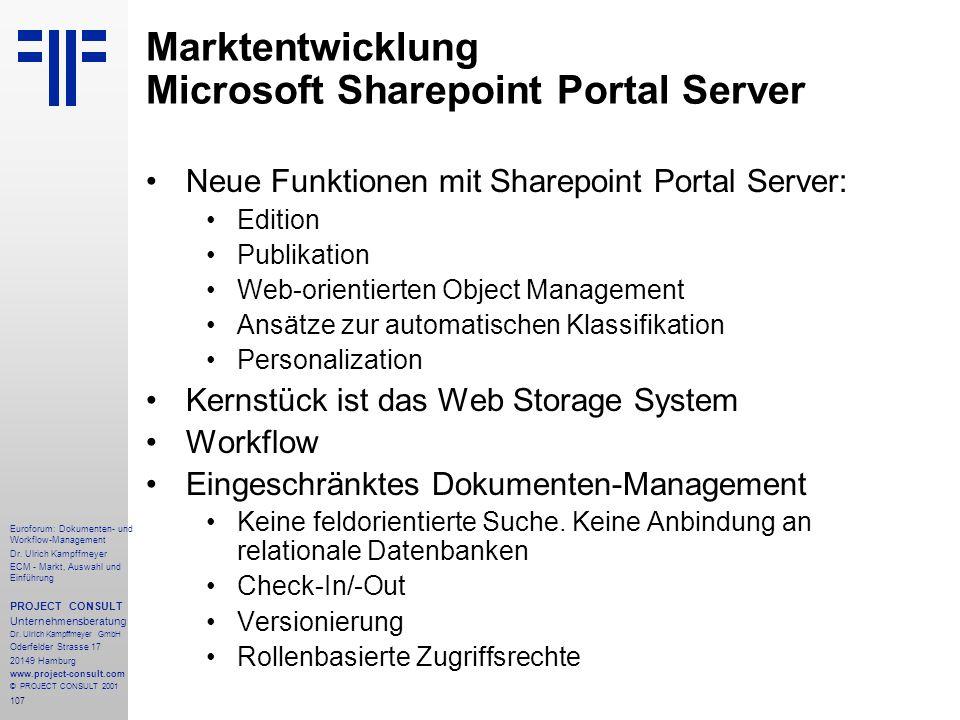 107 Euroforum: Dokumenten- und Workflow-Management Dr.