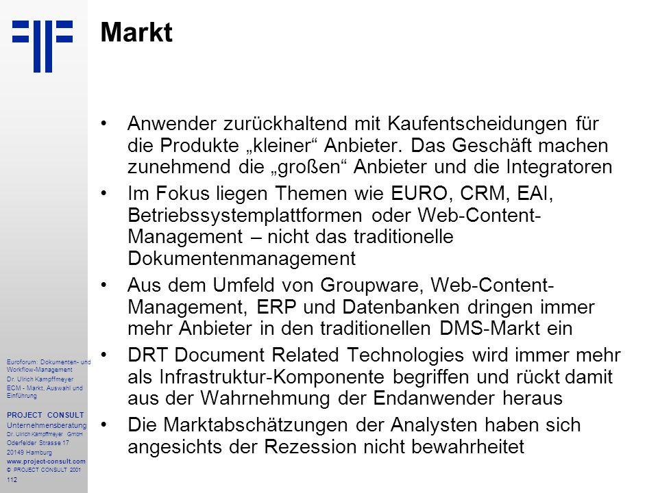 112 Euroforum: Dokumenten- und Workflow-Management Dr.