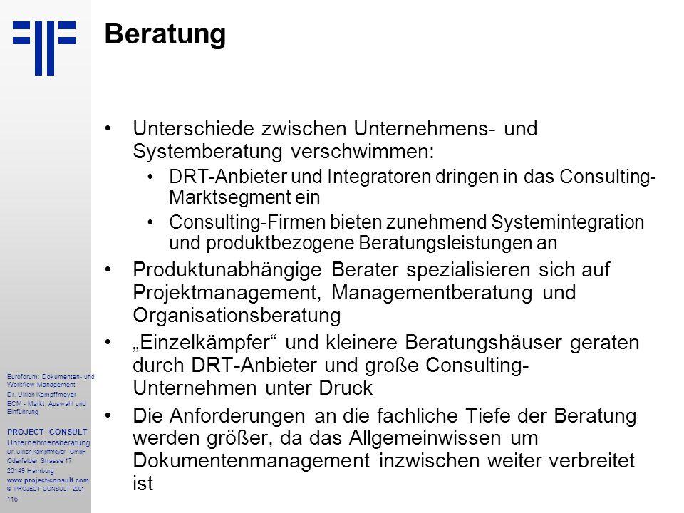 116 Euroforum: Dokumenten- und Workflow-Management Dr.