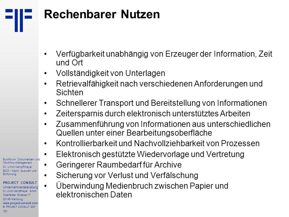 121 Euroforum: Dokumenten- und Workflow-Management Dr.