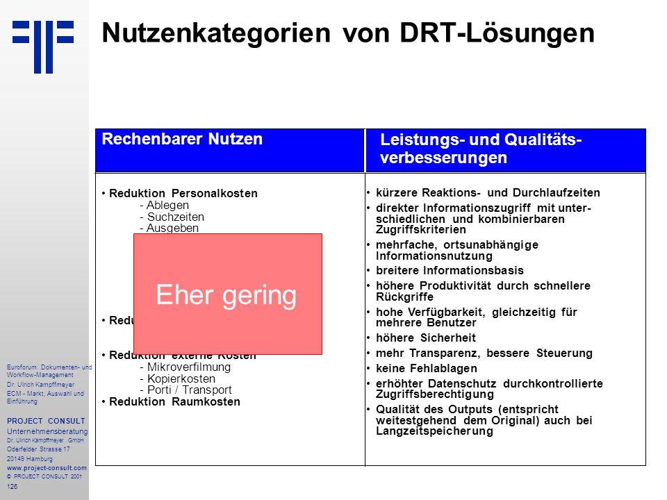 126 Euroforum: Dokumenten- und Workflow-Management Dr.