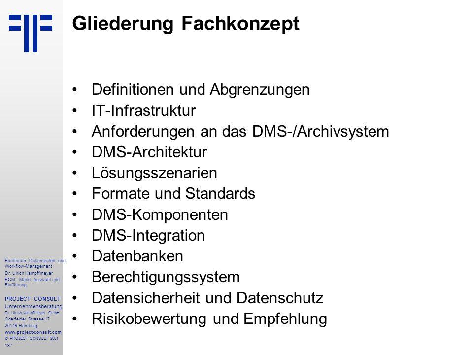 137 Euroforum: Dokumenten- und Workflow-Management Dr.
