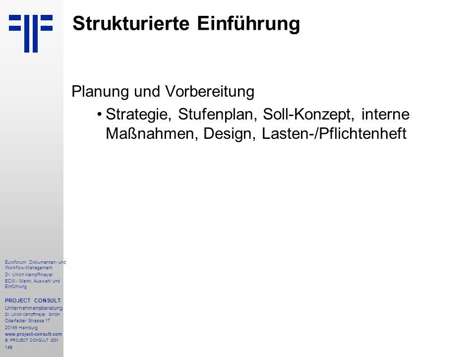 149 Euroforum: Dokumenten- und Workflow-Management Dr.