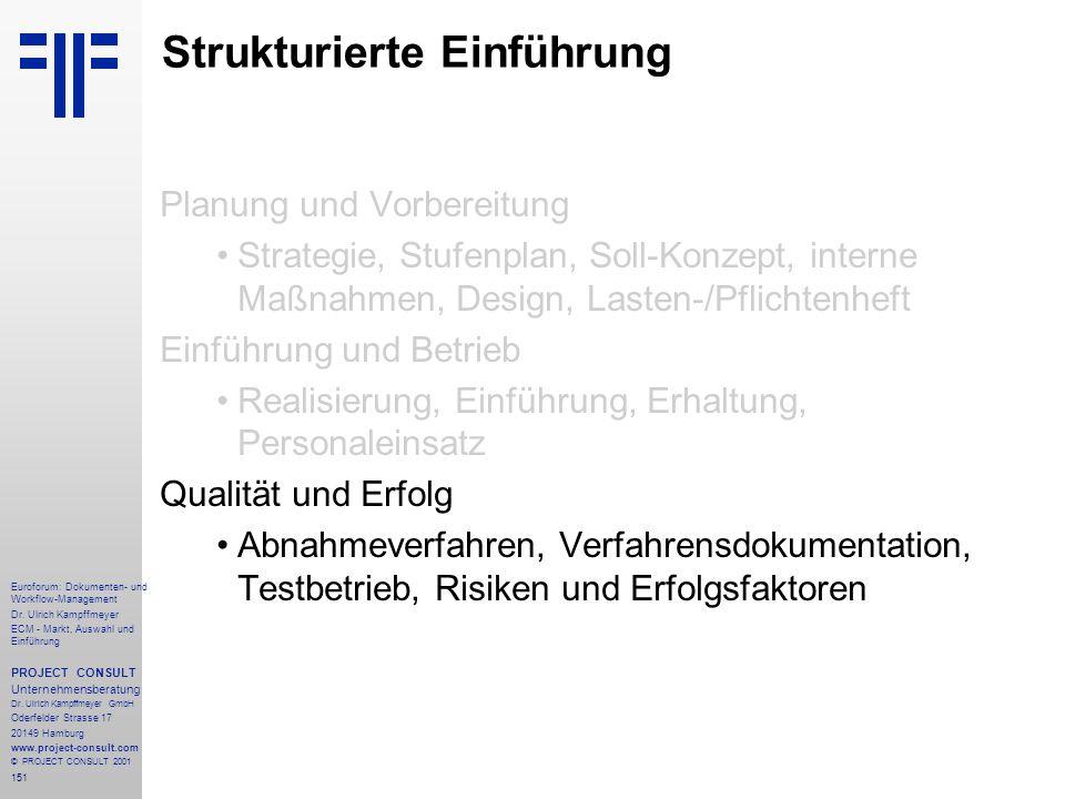 151 Euroforum: Dokumenten- und Workflow-Management Dr.