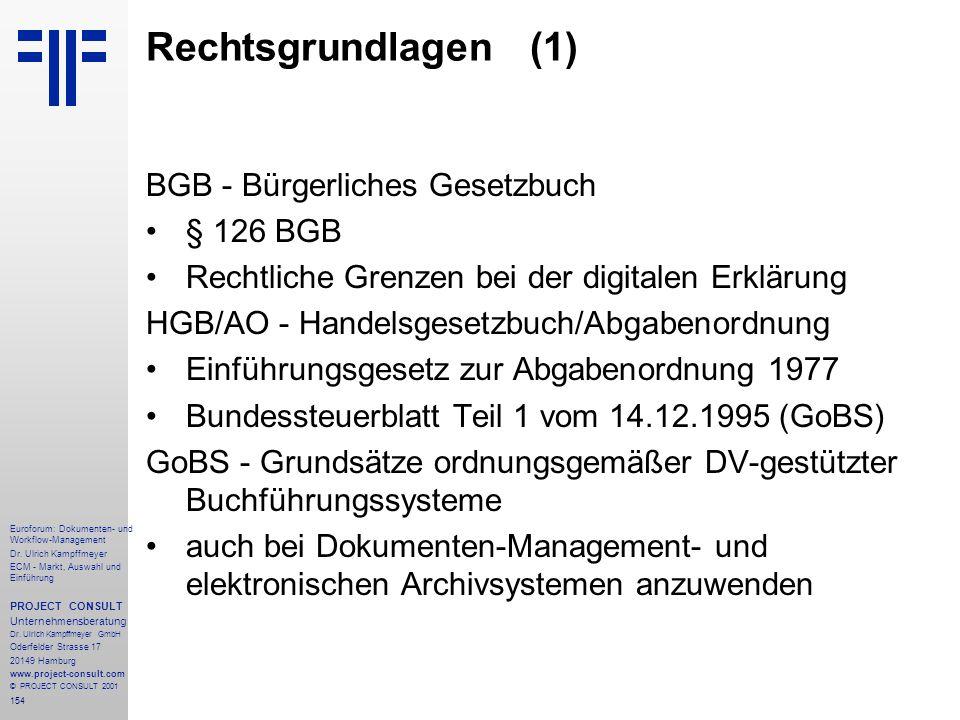 154 Euroforum: Dokumenten- und Workflow-Management Dr.