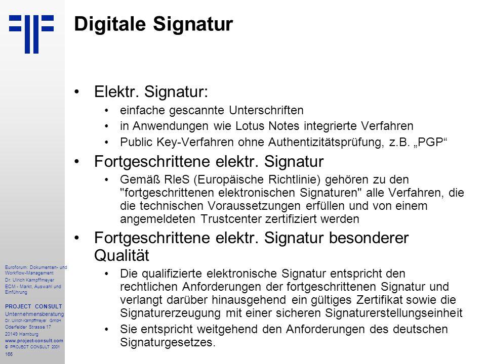 166 Euroforum: Dokumenten- und Workflow-Management Dr.