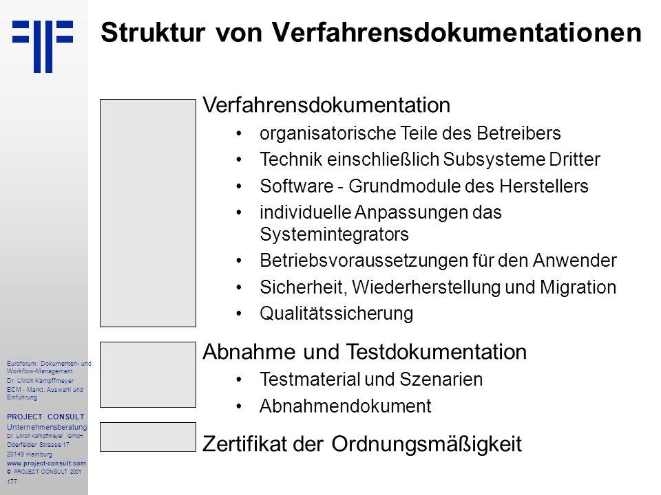 177 Euroforum: Dokumenten- und Workflow-Management Dr.