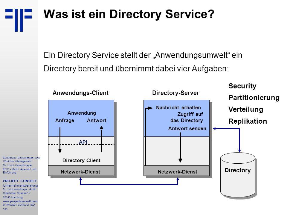 189 Euroforum: Dokumenten- und Workflow-Management Dr.
