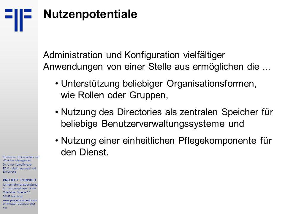 197 Euroforum: Dokumenten- und Workflow-Management Dr.