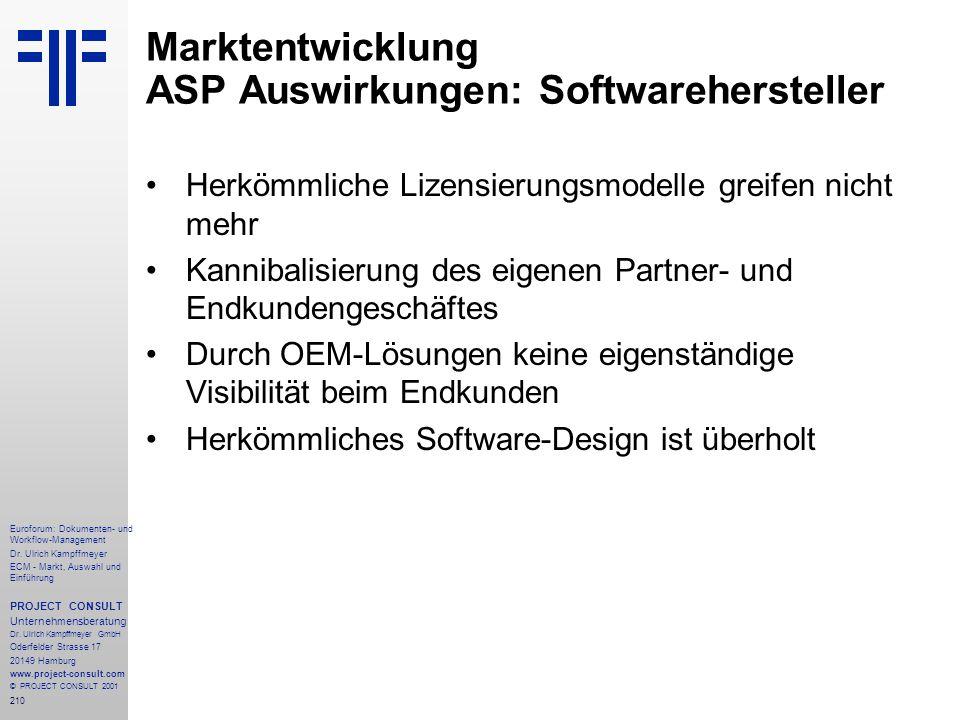210 Euroforum: Dokumenten- und Workflow-Management Dr.