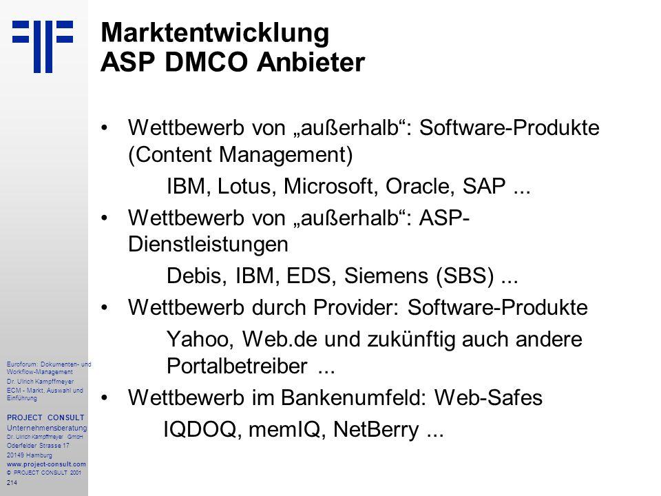 214 Euroforum: Dokumenten- und Workflow-Management Dr.