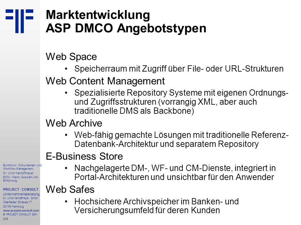 215 Euroforum: Dokumenten- und Workflow-Management Dr.
