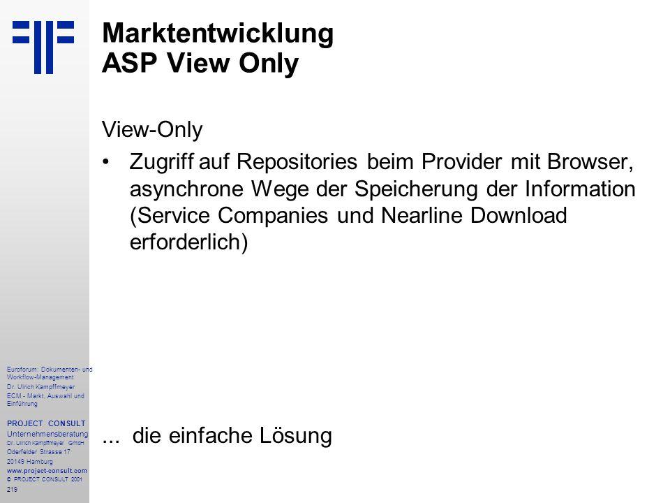 219 Euroforum: Dokumenten- und Workflow-Management Dr.