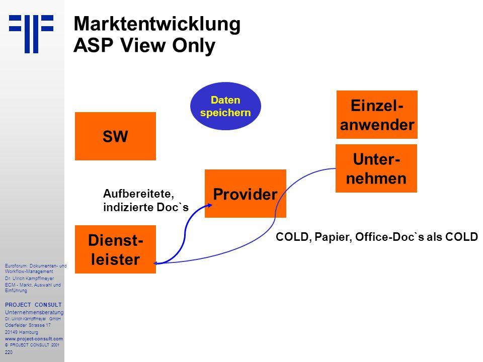 220 Euroforum: Dokumenten- und Workflow-Management Dr.