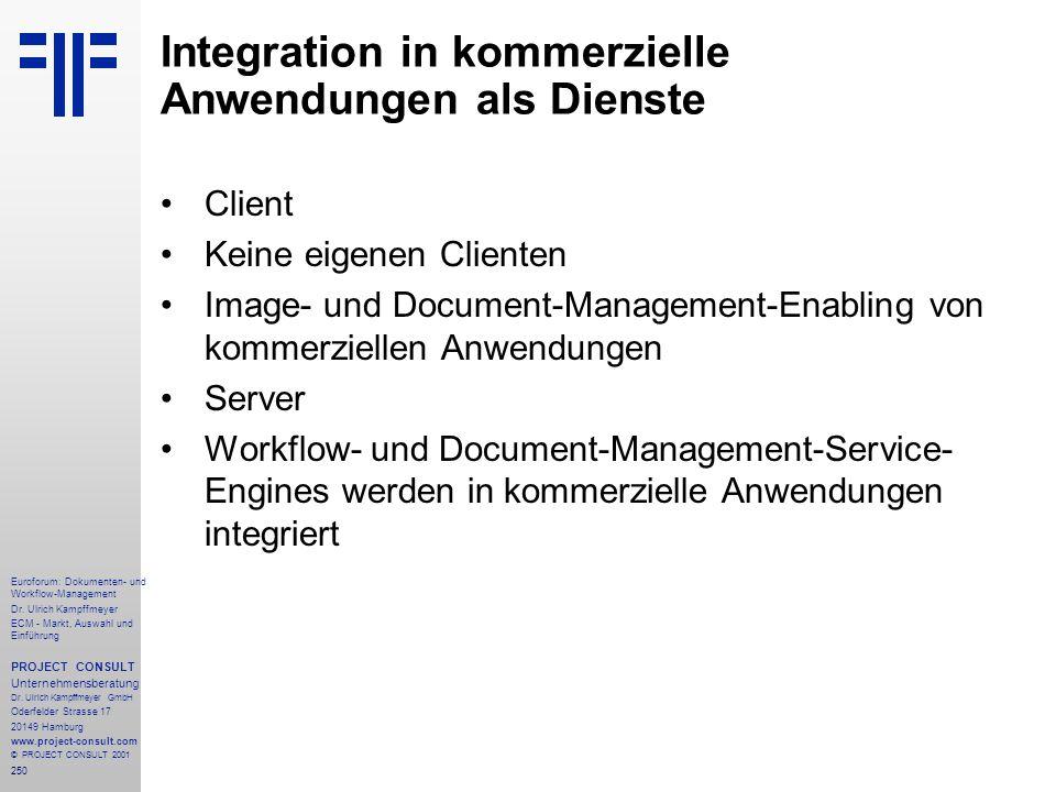 250 Euroforum: Dokumenten- und Workflow-Management Dr.