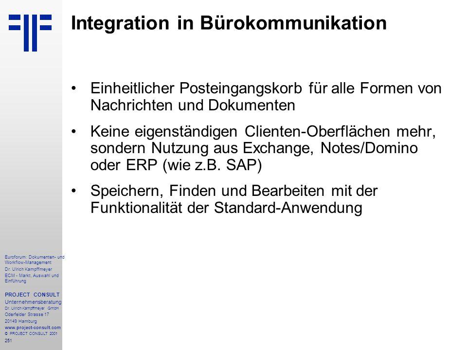 251 Euroforum: Dokumenten- und Workflow-Management Dr.