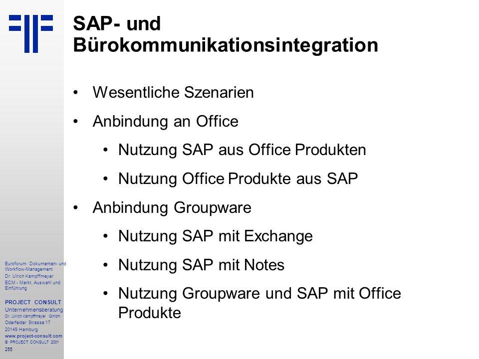 255 Euroforum: Dokumenten- und Workflow-Management Dr.