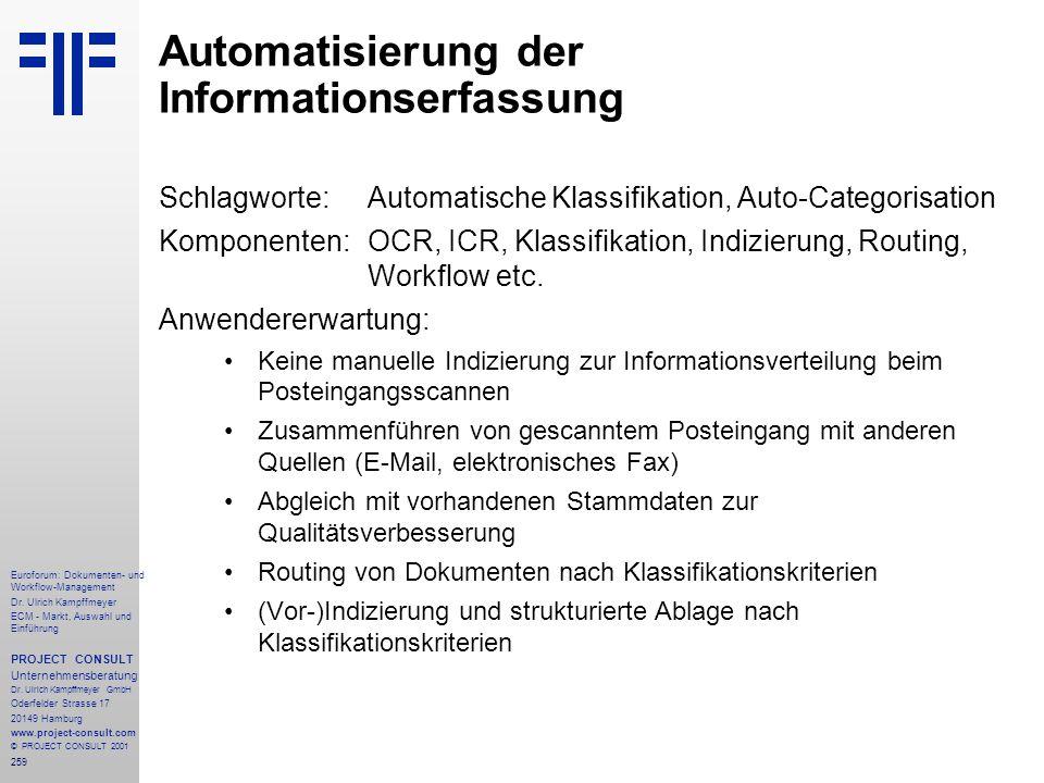259 Euroforum: Dokumenten- und Workflow-Management Dr.