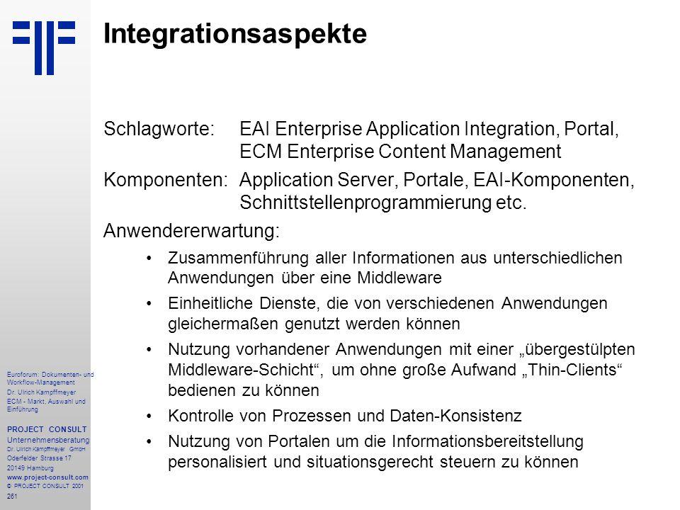 261 Euroforum: Dokumenten- und Workflow-Management Dr.