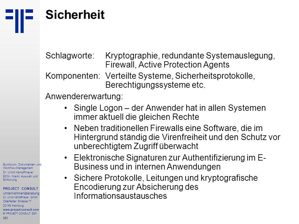 263 Euroforum: Dokumenten- und Workflow-Management Dr.