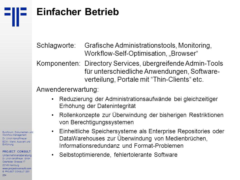 264 Euroforum: Dokumenten- und Workflow-Management Dr.
