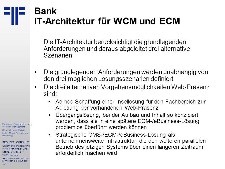 267 Euroforum: Dokumenten- und Workflow-Management Dr.