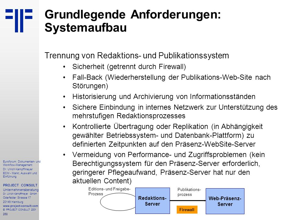 268 Euroforum: Dokumenten- und Workflow-Management Dr.