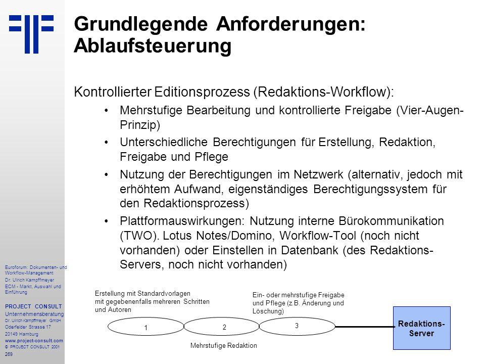 269 Euroforum: Dokumenten- und Workflow-Management Dr.