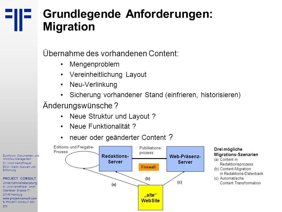270 Euroforum: Dokumenten- und Workflow-Management Dr.