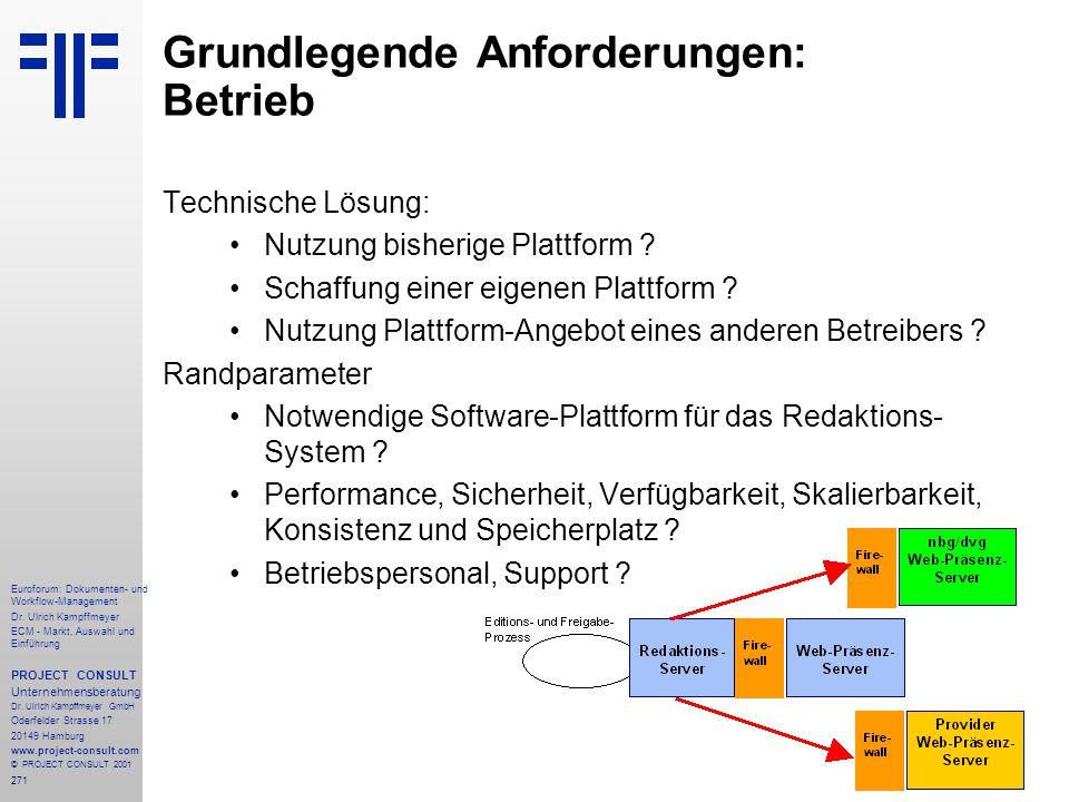 271 Euroforum: Dokumenten- und Workflow-Management Dr.