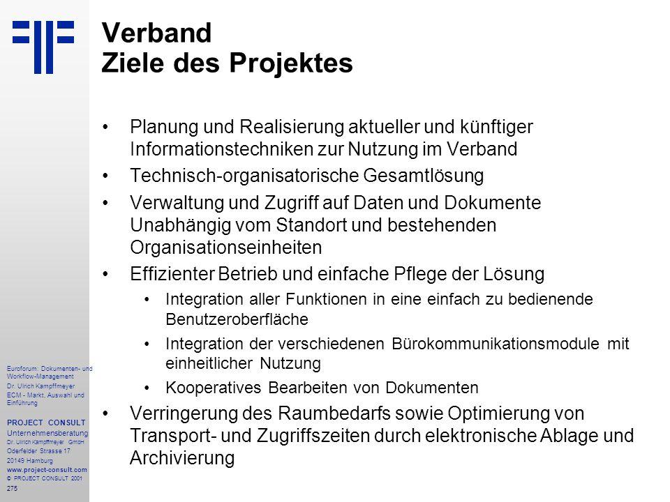275 Euroforum: Dokumenten- und Workflow-Management Dr.