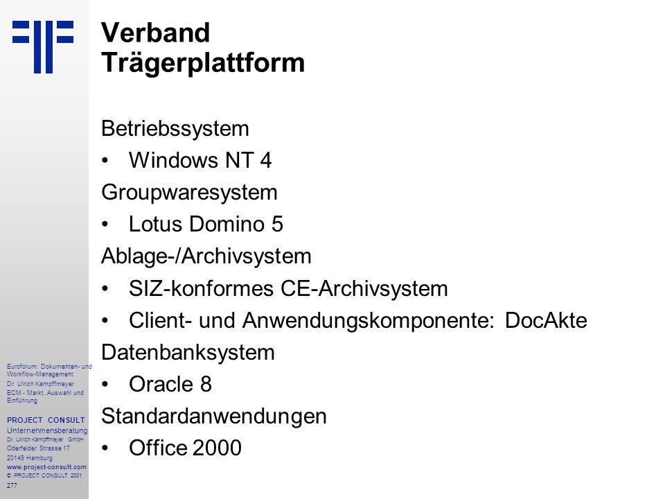 277 Euroforum: Dokumenten- und Workflow-Management Dr.